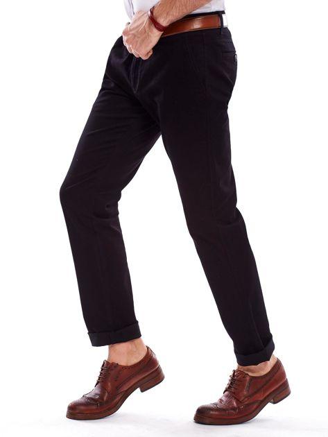 Spodnie męskie czarne o prostym kroju                              zdj.                              7