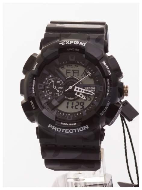 Sportowy męski zegarek wielofunkcyjny. Dwa czasy. Podwójny mechanizm - elektroniczny + analogowy. Wodoodporny                                   zdj.                                  1