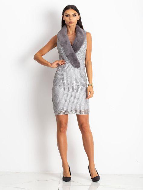 Srebrna sukienka Boost                              zdj.                              4