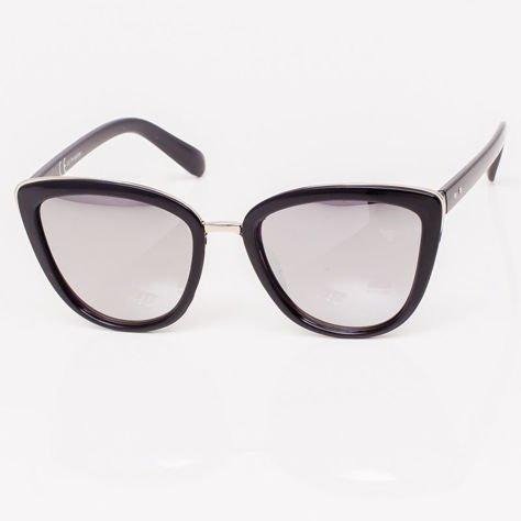 Srebrne Lustrzane Damskie Okulary przeciwsłoneczne CAT EYE                              zdj.                              3