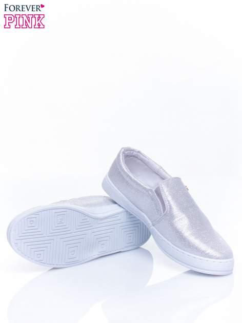 Srebrne buty sliponki glitter                                  zdj.                                  5