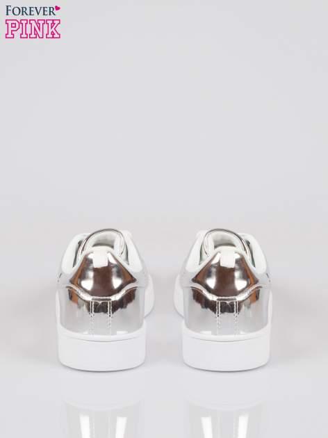Srebrne buty sportowe faux leather Picture na grubej podeszwie                                  zdj.                                  3