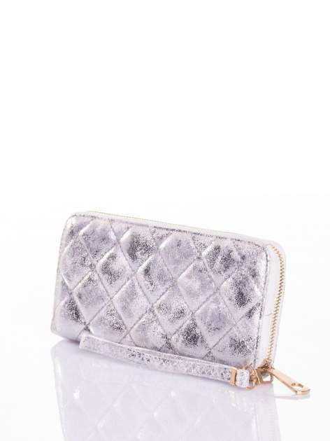 Srebrny pikowany portfel                                  zdj.                                  3