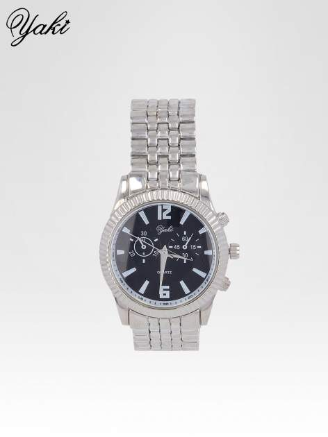 Srebrny zegarek damski boyfriend watch na bransolecie