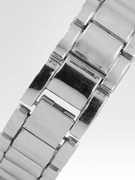 Srebrny zegarek damski na bransolecie ze srebrną cyrkoniową tarczą                                   zdj.                                  4