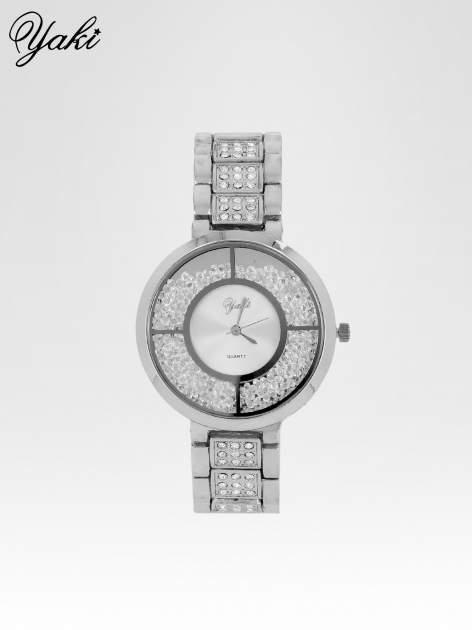 Srebrny zegarek damski na bransolecie ze srebrną cyrkoniową tarczą                                   zdj.                                  1