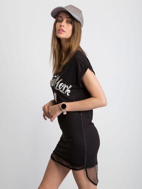 Czarna sukienka Glistening                              zdj.                              3