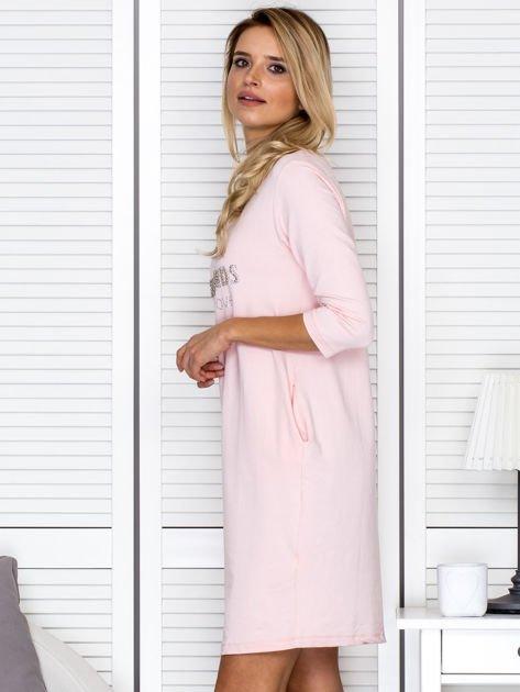 Sukienka damska różowa z diamentem                              zdj.                              5