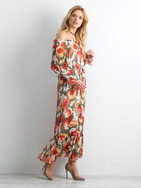 Sukienka hiszpanka we wzory                              zdj.                              1