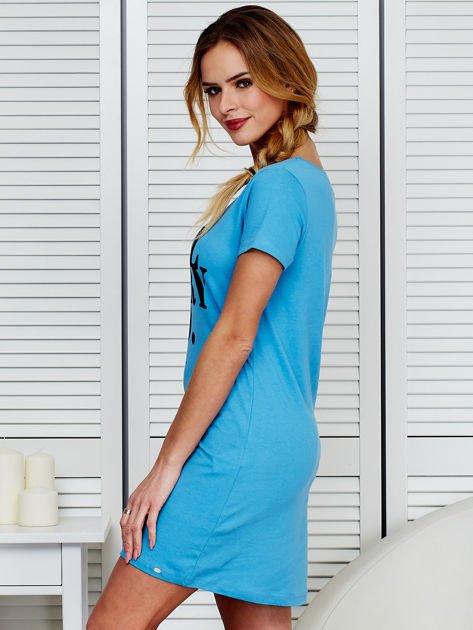 Sukienka niebieska bawełniana COOL STORY BRO                                  zdj.                                  5