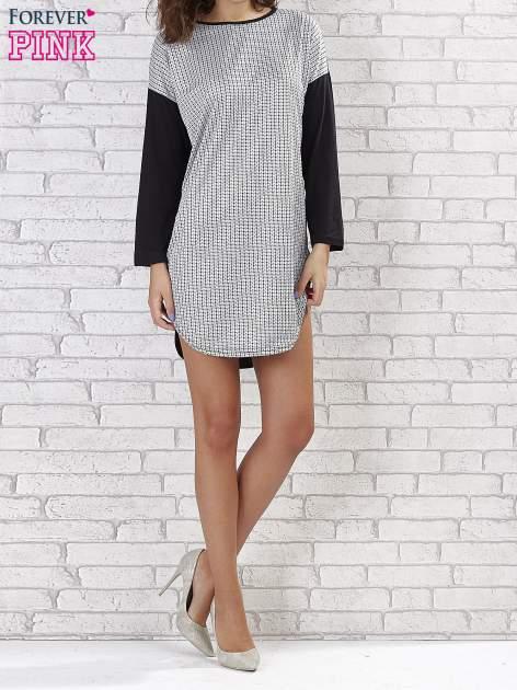 Sukienka two tone w geometryczne wzory                                  zdj.                                  1
