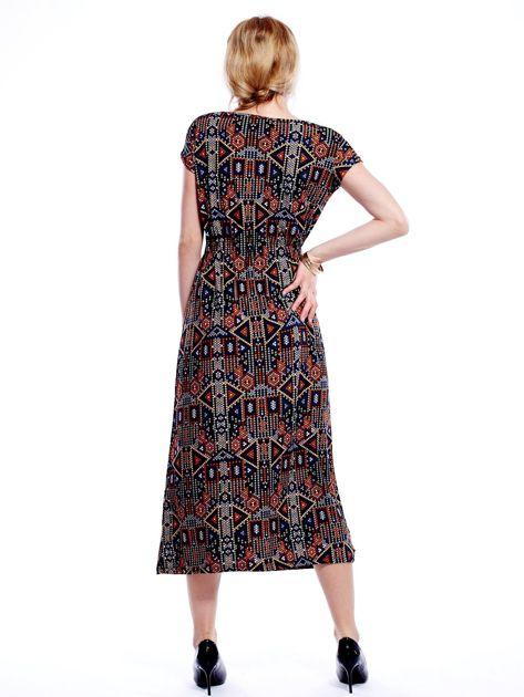 Sukienka w geometryczne wzory maxi                              zdj.                              2