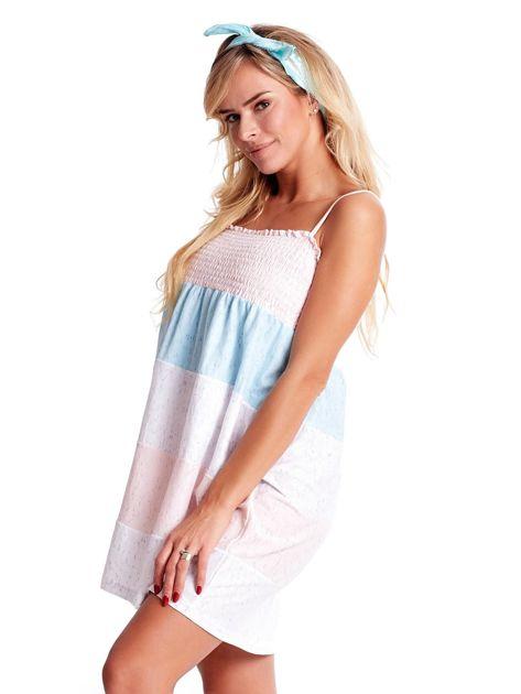Sukienka w szerokie kolorowe paski                              zdj.                              3