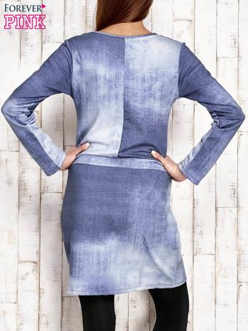 Sukienka z aplikacją i troczkami jasnoniebieska