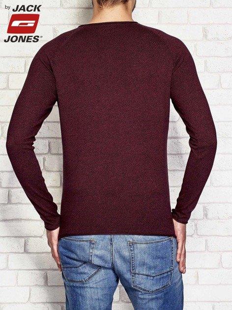 Sweter męski gładki bordowy