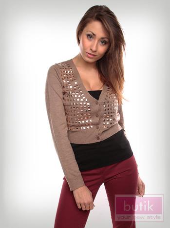 Sweter z dżetami