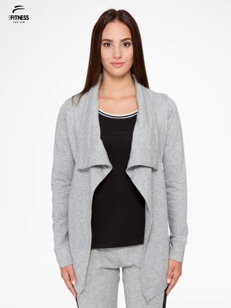 Szara bluza dresowa typu kardigan