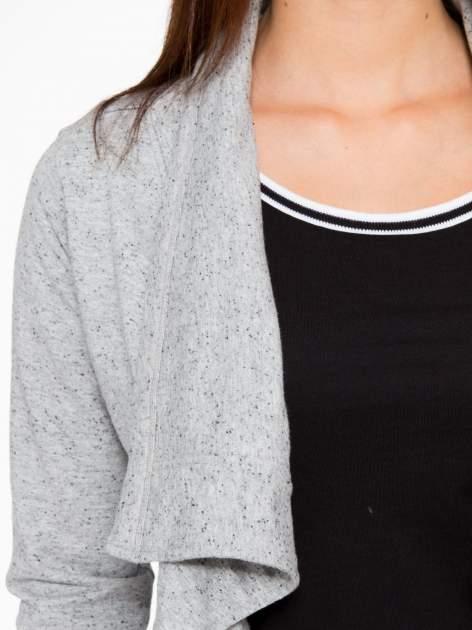 Szara bluza dresowa typu kardigan                                  zdj.                                  6