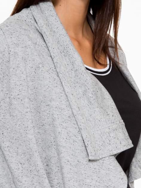 Szara bluza dresowa typu kardigan                                  zdj.                                  9