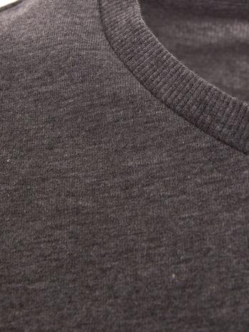 Szara bluza dresowa z rękawami w motyw kwiatowy                                  zdj.                                  6