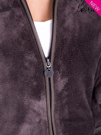 Szara bluza miś z kapturem z uszkami i pomponami                                  zdj.                                  7