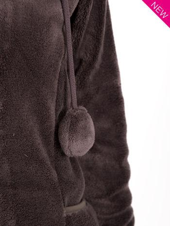 Szara bluza miś z kapturem z uszkami i pomponami                                  zdj.                                  9