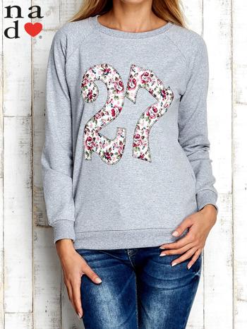 Szara bluza z cyfrą 27