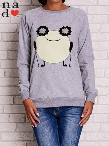 Szara bluza z komiksowym nadrukiem                                  zdj.                                  2
