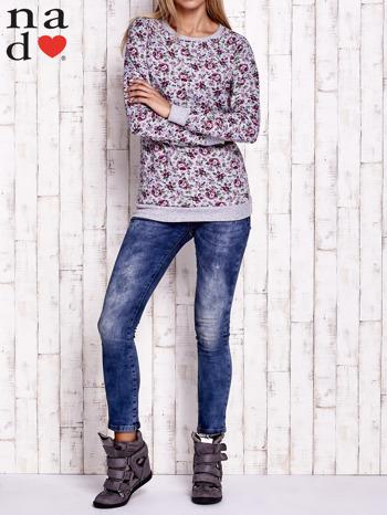 Szara bluza z kwiatowymi motywami                                  zdj.                                  4