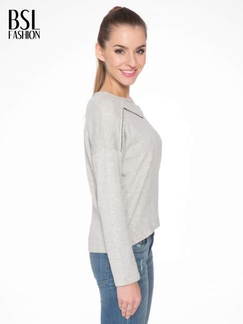 Szara bluza z ozdobnym suwakiem                                  zdj.                                  3