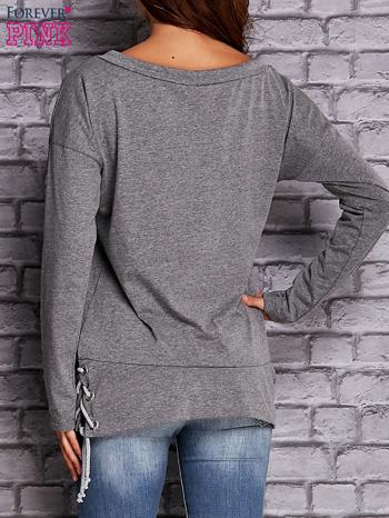 Szara bluza z wiązaniami                               zdj.                              4