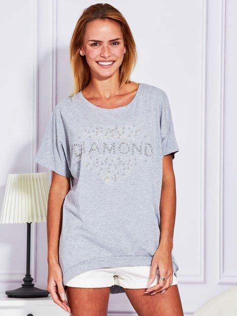 Szara bluzka DIAMOND                              zdj.                              1