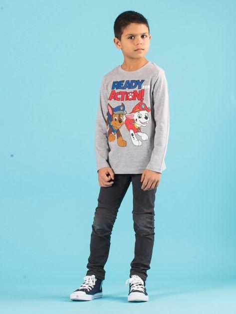 Szara bluzka dziecięca z nadrukiem PSI PATROL                              zdj.                              4