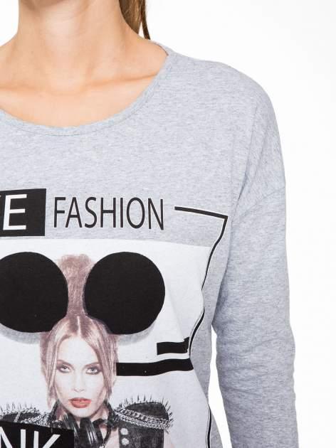 Szara bluzka w stylu fashion                                  zdj.                                  6