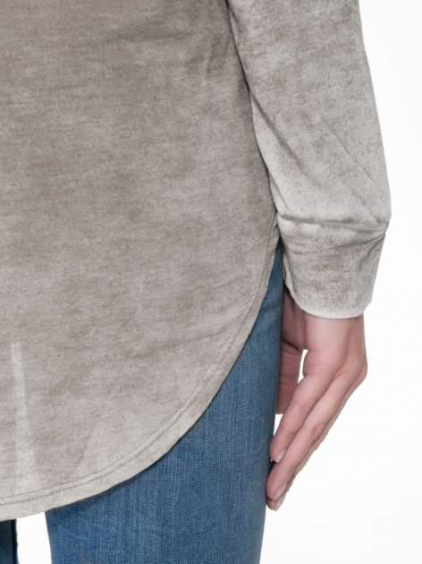 Szara bluzka z nadrukiem I LOVE BSL i efektem sprania                                  zdj.                                  8