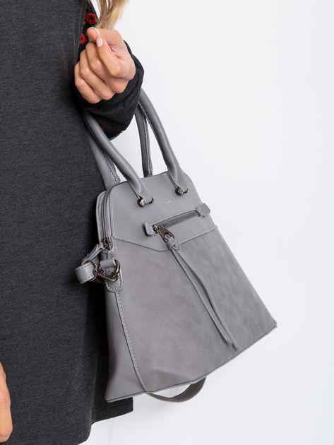 Szara damska torba z ekoskóry                              zdj.                              2