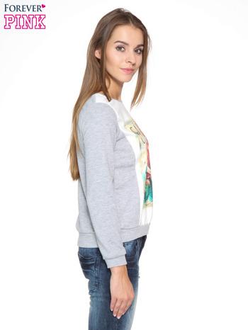 Szara dresowa bluza z nadrukiem CALIFORNIA LA                                  zdj.                                  3
