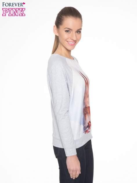Szara dresowa bluza z nadrukiem wiewiórki                                  zdj.                                  3