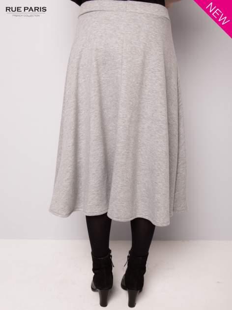 Szara dresowa spódnica midi                                  zdj.                                  5