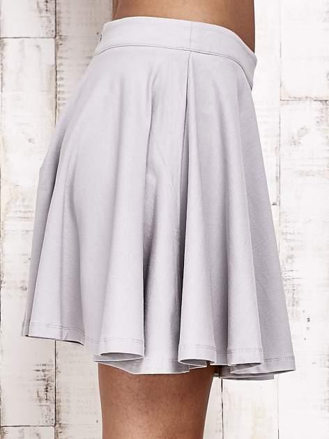 Szara dresowa spódnica szyta z koła                                  zdj.                                  5