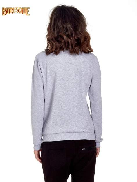 Szara klasyczna bluza damska z napisem IN LIFE SIMPLE IS BEST                                  zdj.                                  4