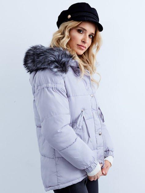 Szara kurtka zimowa pikowana                              zdj.                              1