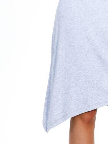 Szara luźna sukienka z asymetrycznym dołem                                  zdj.                                  6