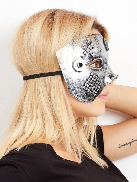 Szara maska karnawałowa                              zdj.                              2
