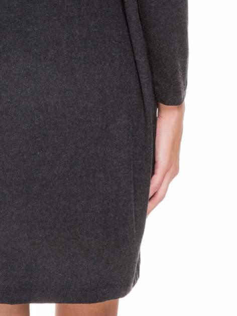 Szara melanżowa sukienka z wiązaniem w talii                                  zdj.                                  8