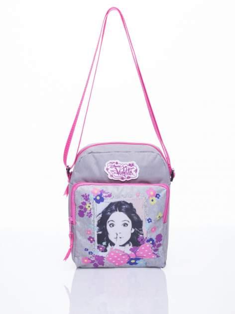 Szara pionowa torba szkolna DISNEY Violetta