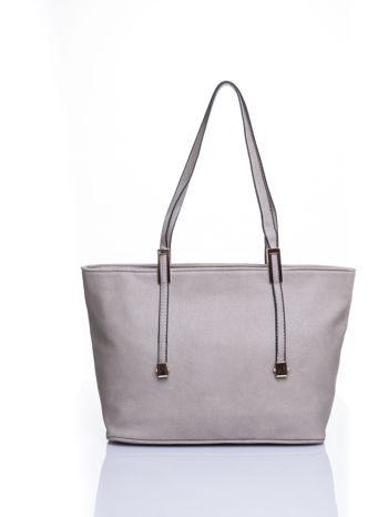 Szara prosta torba shopper bag