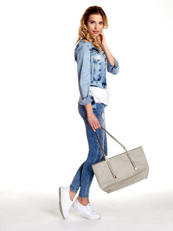 Szara prosta torba shopper bag                                  zdj.                                  2