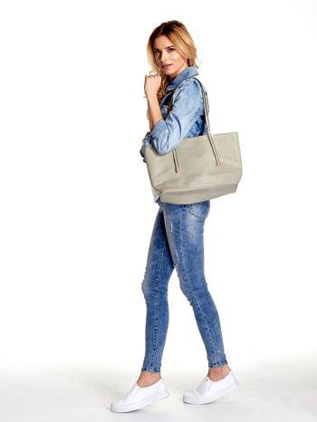 Szara prosta torba shopper bag                                  zdj.                                  6