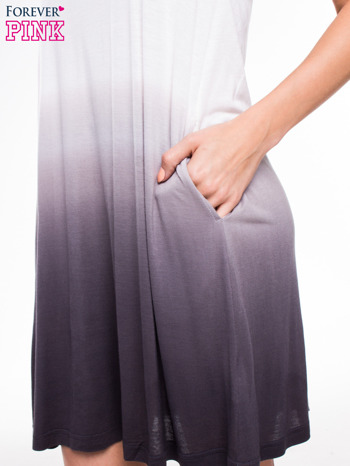Szara sukienka na ramiączka z efektem ombre                                  zdj.                                  7
